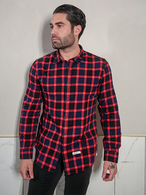 MARKUP CHECK SHIRT IN RED