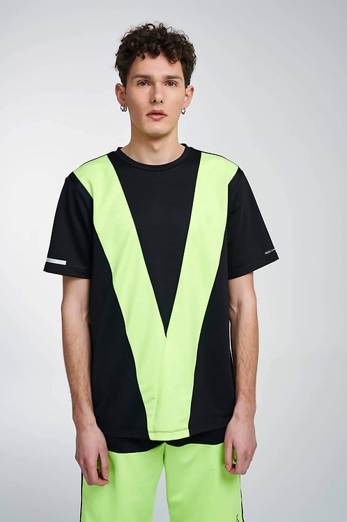 P/COC T-SHIRT WITH FLUO DETAILS IN BLACK
