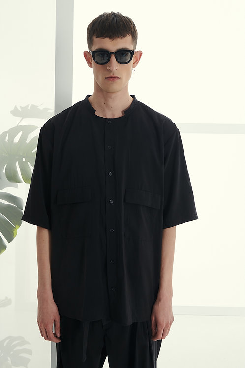P/COC SUMMER SHIRT IN BLACK
