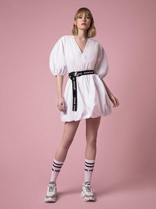 INNA MANOLI BALLON DRESS IN WITE