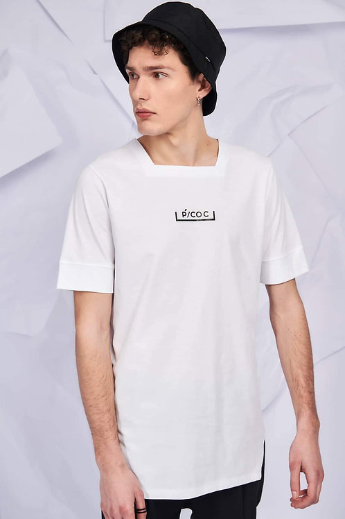 P/COC SQUARE NECK T-SHIRT IN WHITE