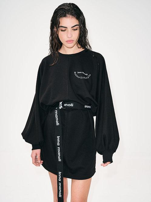 INNA MANOLI MINI DRESS IN BLACK
