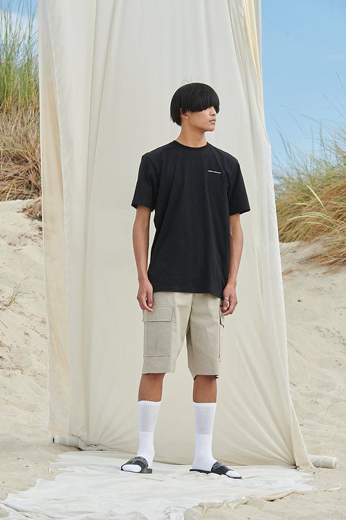 P/COC BACK DETAIL T-SHIRT IN BLACK