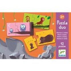 Lernspiel Puzzle duo: Mami & Kind von Djeco