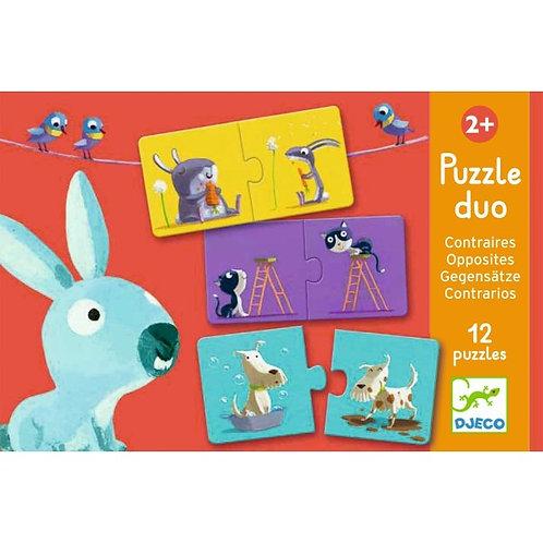 Lernspiel Puzzle duo: Gegenteile von Djeco