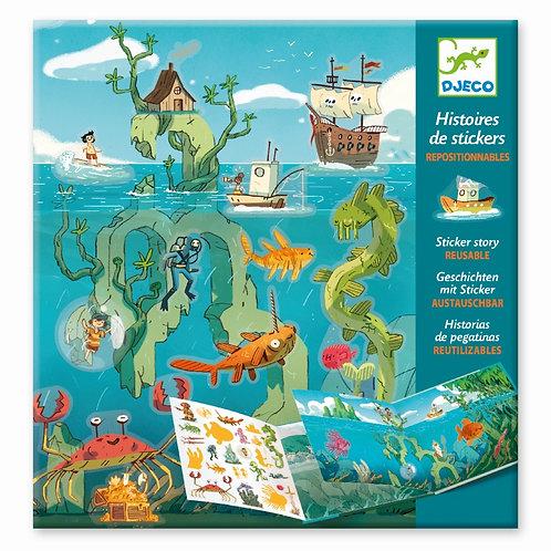 """Geschichten mit Sticker """"Meeresabenteuer"""" von Djeco"""