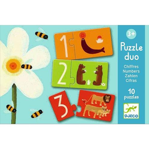 Lernspiel Puzzle duo: Zahlen von Djeco