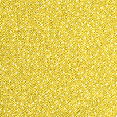 Poplin Baumwolle Gelbe Punkte von Katia 145cm