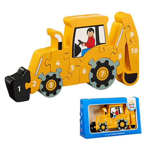 Holzpuzzle Bagger 1-10