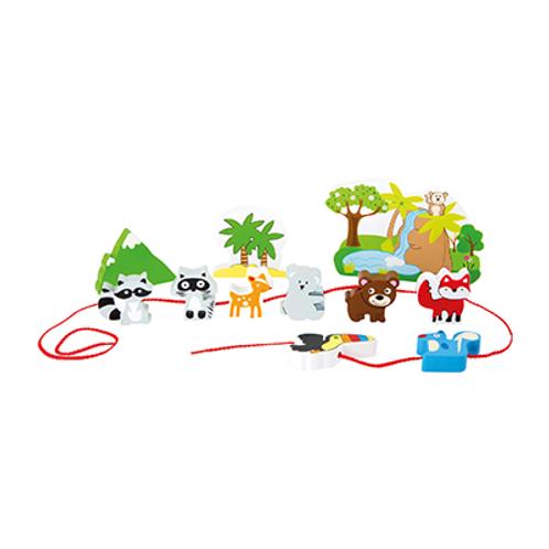 """Spielwelt """"Safari zum Fädeln""""von Small Foot"""