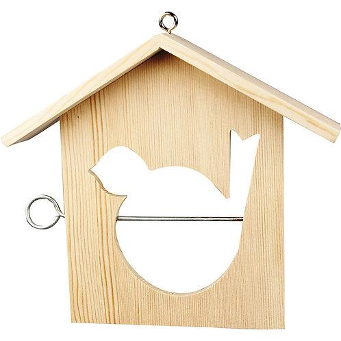 Vogelfutterhaus aus Kiefernholz
