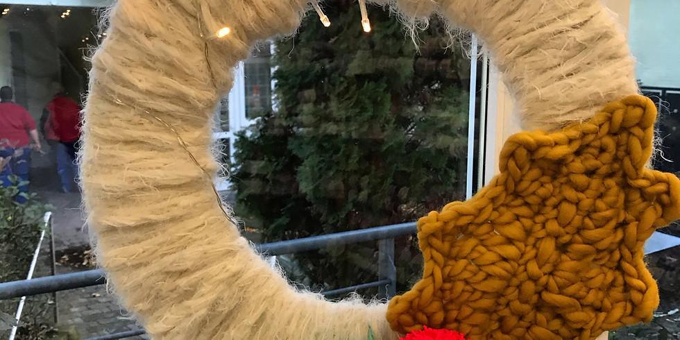 Wolliger Weihnachtskranz Workshop