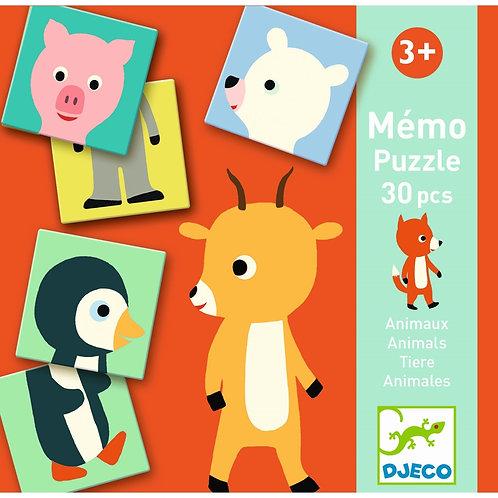 Memo Animo Puzzle von Djeco