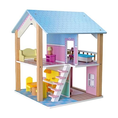 Holz Puppenhaus Blaues Dach Etagen, drehbar von Small Foot