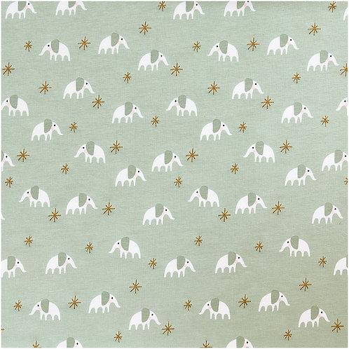 Baumwolljersey Elefanten von Rico Design 145cm