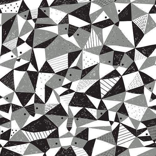 Jerseystoff Waschbären geometrisch von Katia 145cm