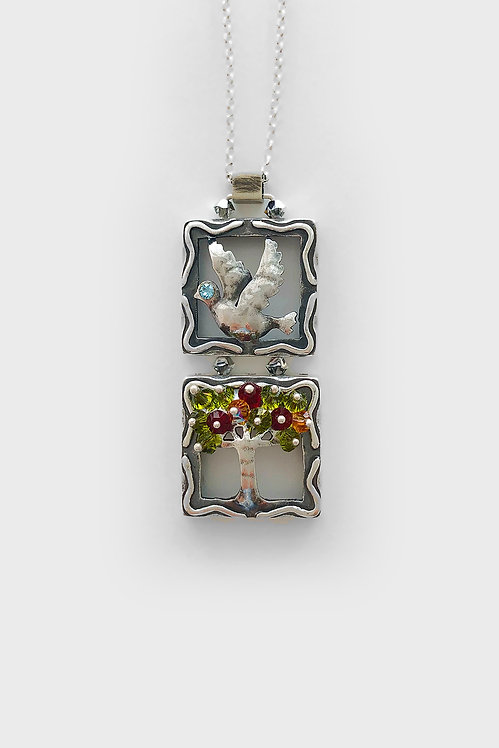 Sterling Silver Dove and Tree