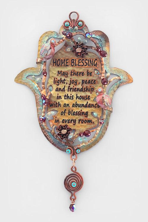 English Home Blessing and Roses Hamsa