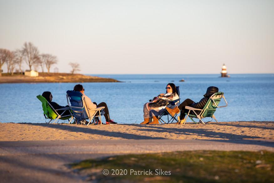 Socially Distant at Calf Pasture Beach
