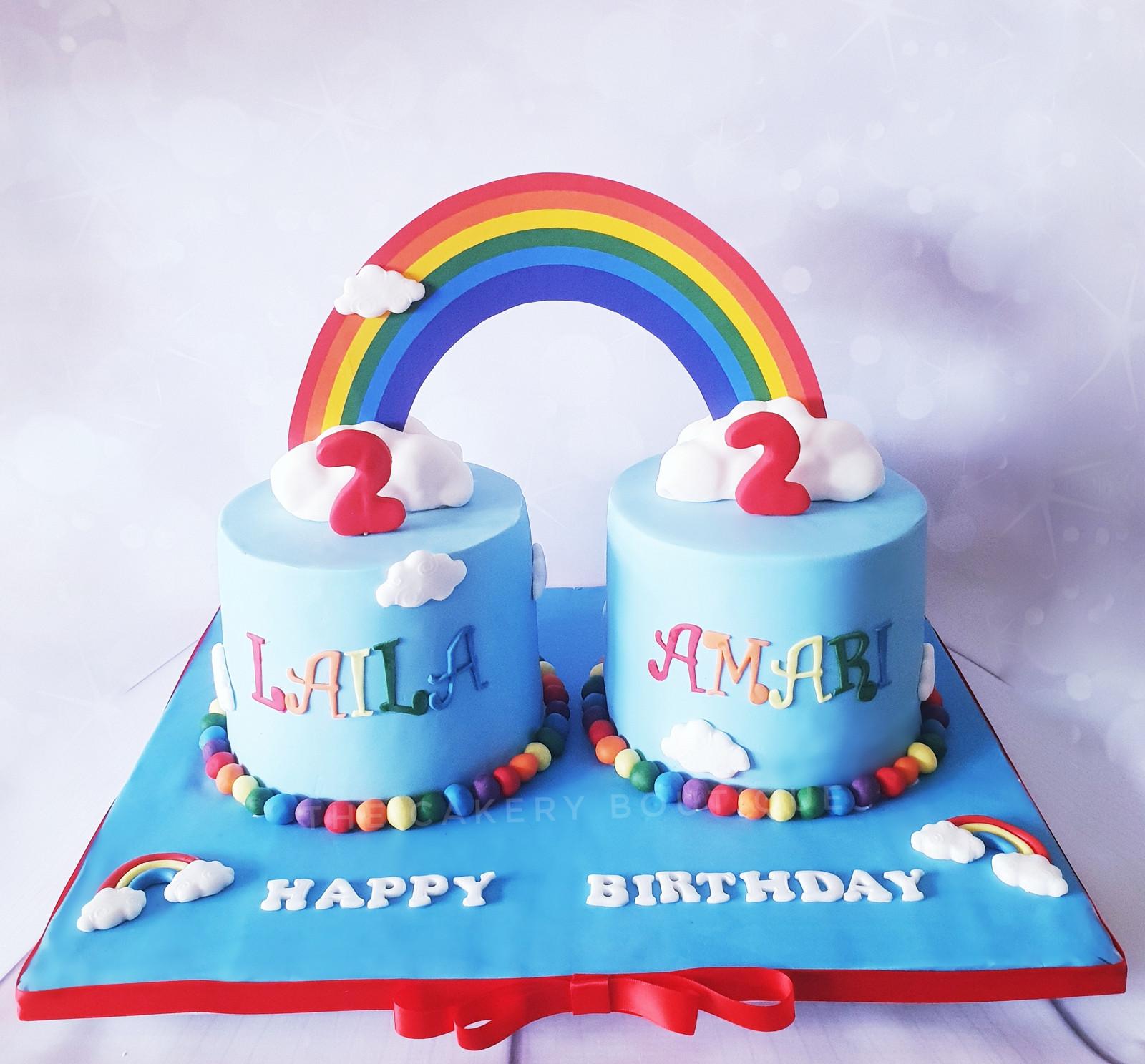 Fabulous Twins Birthday Cake Funny Birthday Cards Online Alyptdamsfinfo