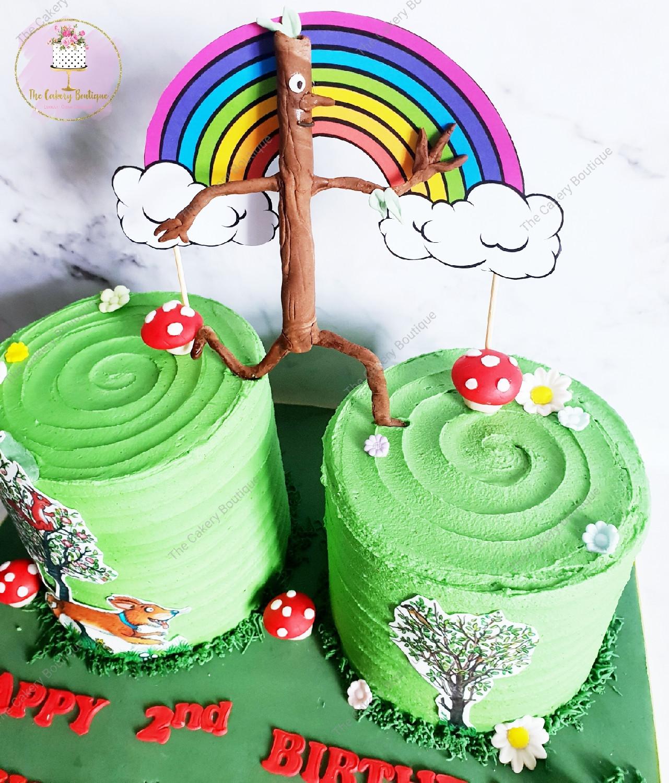 Sensational The Stickman Twins Birthday Cake Funny Birthday Cards Online Alyptdamsfinfo