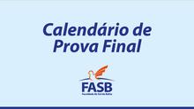 Calendário de Prova Final 2020.1