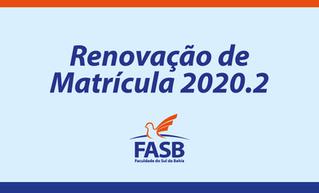 Renovação de Matrícula 2020.2