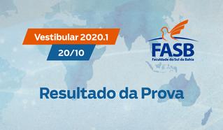 VESTIBULAR FASB 2020.1 - RESULTADO DA PROVA (20/10/2019)
