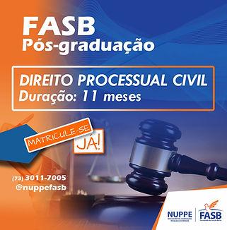 PÓS-GRADUAÇÃO FASB DIREITO PROCESSUAL CI