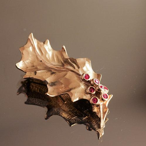 Yves Saint Laurent Leaf Brooch