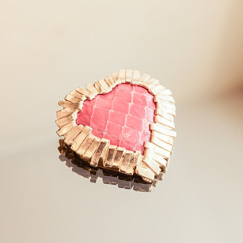 Yves Saint Laurent Heart Brooch (Gold)