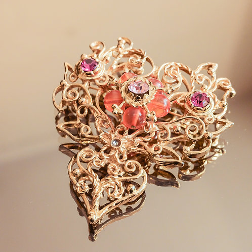 Christian Lacroix Filigree Brooch (Gold)