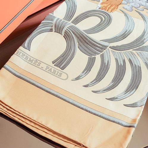 Hermès Carré 90 (Orange/Beige)