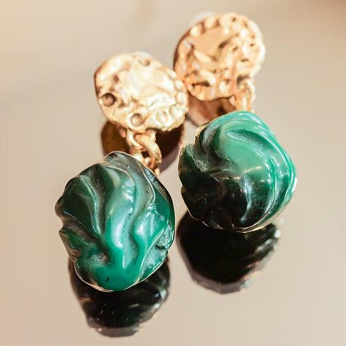 Yves Saint Laurent Jade Earrings (Jade/Gold)