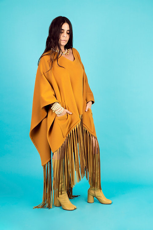 Hermès Fringed Poncho