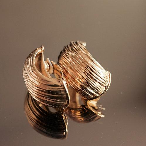 Yves Saint Laurent gold clip-on earrings
