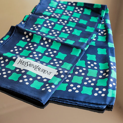 Yves Saint Laurent Checkerboard Scarf