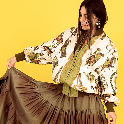 Hermès Silk Bomber Jacket