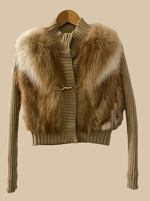 Gucci Bi-material  Wool and Fur Jacket