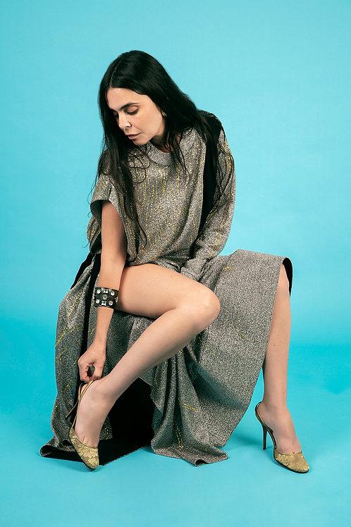 Louis Vuitton Silver, Gold & Black Dress