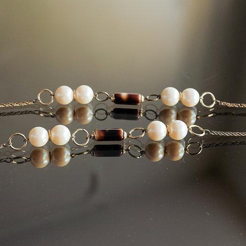 Vintage Pearl  longue Necklace