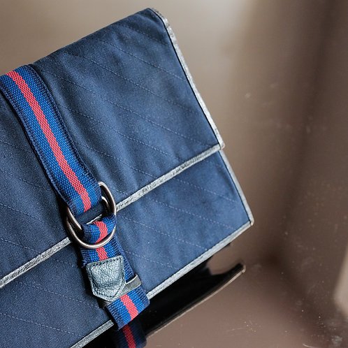 Yves Saint Laurent Navy Blue Pouch