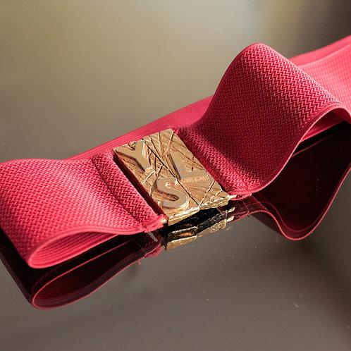 Yves Saint Laurent Red Belt