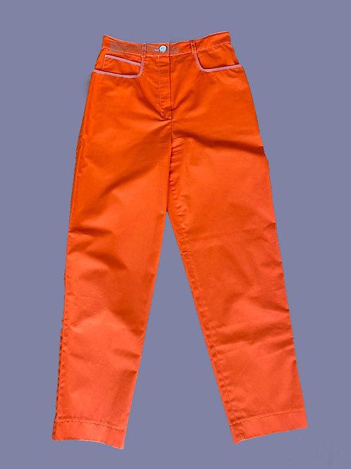 Courrèges Orange Pants