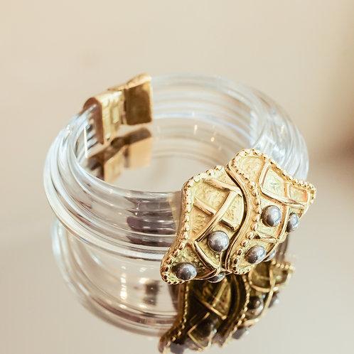 Nina Citrine Bracelet (Crystal/Gold)