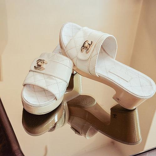 Chanel Sandals (Size 37.5 FR)