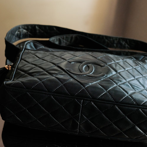Chanel  Black Quilted lambskin camera Bag
