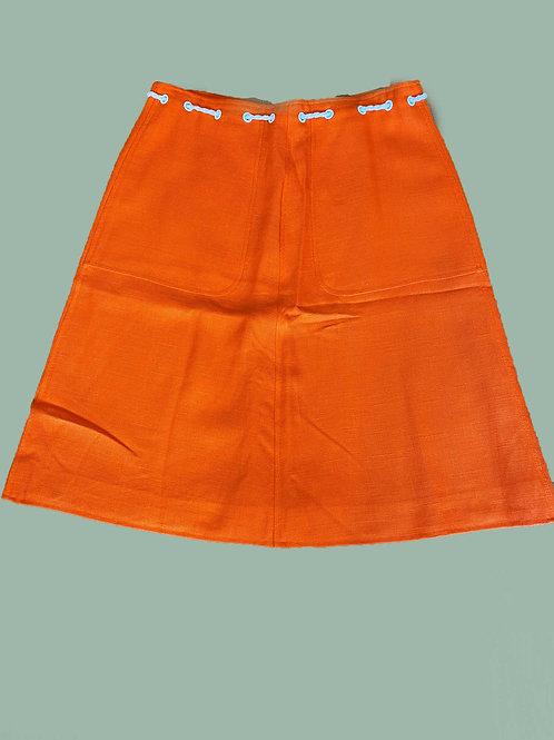 Courrèges Orange Skirt