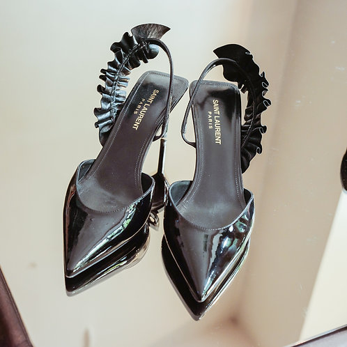 Yves Saint Laurent Slingback Heels (Size 38.5 FR)
