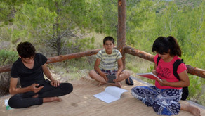 Children trek 4 km in Taurus Mountains every day to pick up signal for online classes